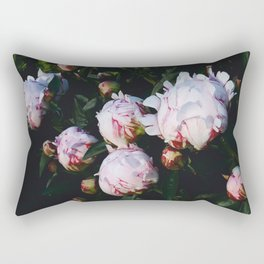 Peony buds in the Garden Rectangular Pillow