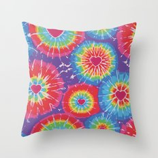 Love Tye Dye Throw Pillow