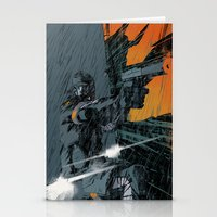 metal gear Stationery Cards featuring METAL GEAR Ground Zeroes by Toni Infante