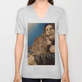 Severus and Lily, oil painting Unisex V-Neck