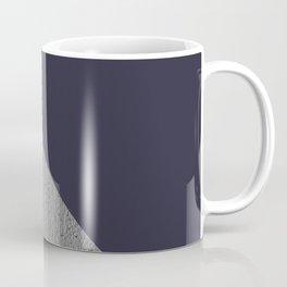 Concrete vs evening blue diagonal Coffee Mug