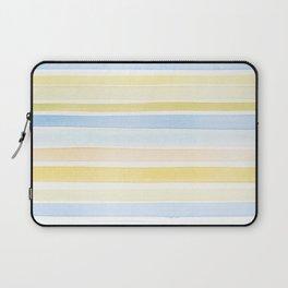 Watercolour stripes 01 Pale sea Laptop Sleeve