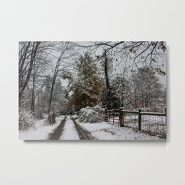 Winter Corner Metal Print