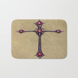 Cross Design Bath Mat