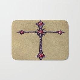 Cross Design Bath Mat