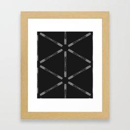 Industria Black Minimal Goth Style Framed Art Print