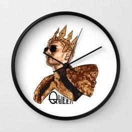 Queen Bill - Black Text Wall Clock