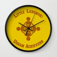 the big lebowski Wall Clocks featuring Little Lebowski Urban Achievers  |  The Big Lebowski by Silvio Ledbetter