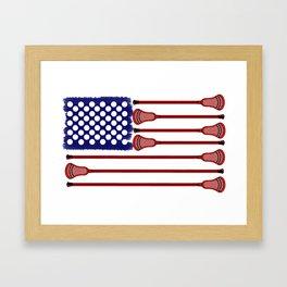 Lacrosse AmericasGame Framed Art Print