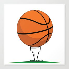 Basketball Tee Canvas Print