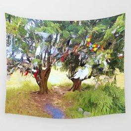 Wishing Tree on Tara Hill Wall Tapestry