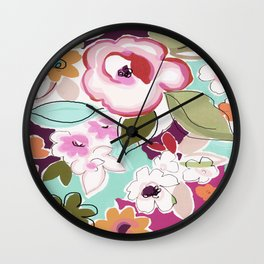 Dufy floral  Wall Clock