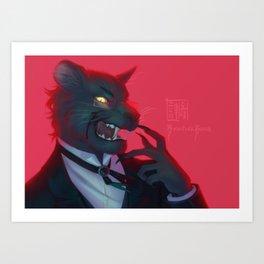 Claude Faustus: Panther Crossover Art Print