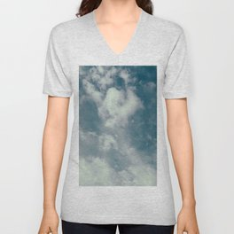 Soft Dreamy Cloudy Sky Unisex V-Neck