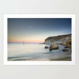 """SuperMoon in Plomo Beach"" Art Print"