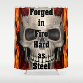 Forged in Fire Skull Shower Curtain