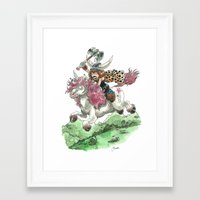 bouletcorp Framed Art Prints featuring Barbarian Unicorn by Bouletcorp