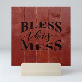 BLESS THIS MESS Mini Art Print