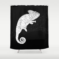 chameleon Shower Curtains featuring CHAMELEON by ARCHIGRAF