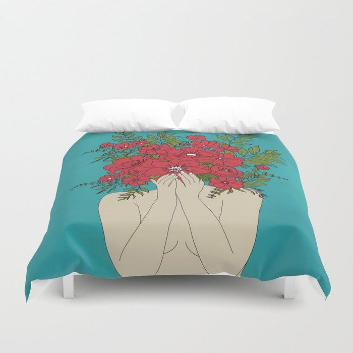 Blooming Red Bettbezug