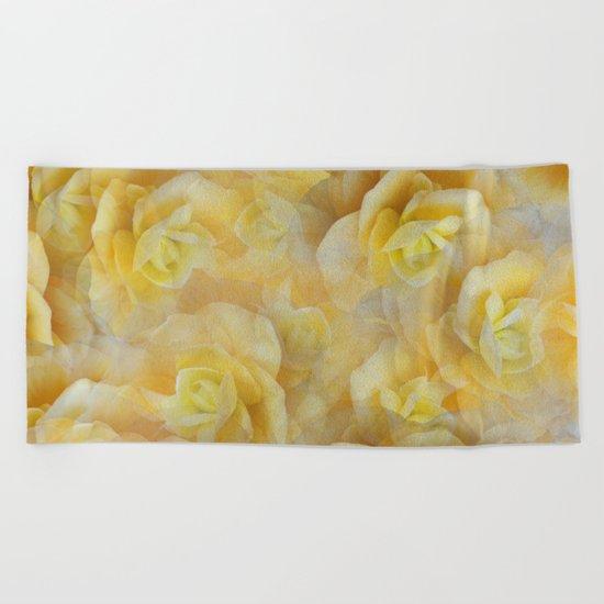 Yellow Blooms Beach Towel