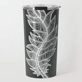 White Feather Travel Mug