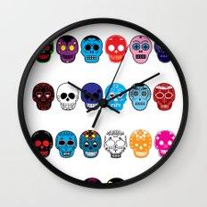 Sugar Skulls Wall Clock