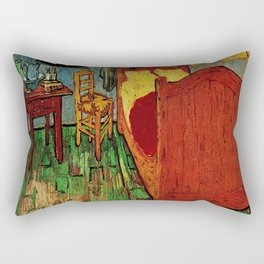 Van Gogh, bedroom in arles– Van Gogh,Vincent Van Gogh,impressionist,post-impressionism,brushwork,pai Rectangular Pillow