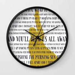 Dear Theodosia Hamilton Wall Clock