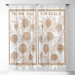 Yggdrasil: The Nine Realms Sheer Curtain