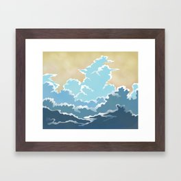 Cold Clouds Framed Art Print