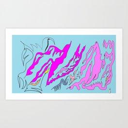 Here I am Art Print