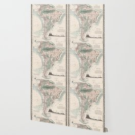 Vintage Map of South America (1858) Wallpaper