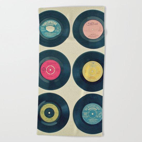 Vinyl Collection Beach Towel
