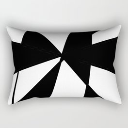 oblique clock- clock,fun,black,red,white,psychedelic,crazy,relativity,abstraction Rectangular Pillow