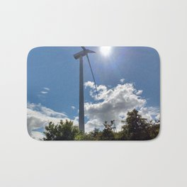 Wind Farm in the Sun Bath Mat