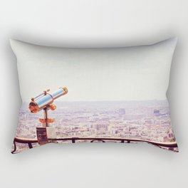 Overlooking Paris - Telescope Rectangular Pillow