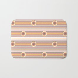 Concentric Circles and Stripes in Fall Colors Bath Mat