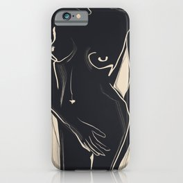 Abstract Art Nude 5 iPhone Case