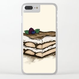 T is for Tiramisu Clear iPhone Case