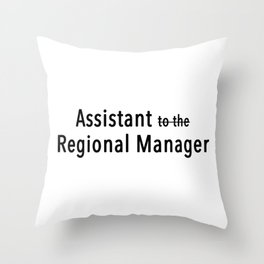 Assistant To The Regional Manager Throw Pillow
