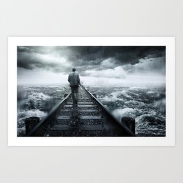 Face Your Fears Art Print