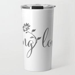 feeling lovely | grey floral Travel Mug