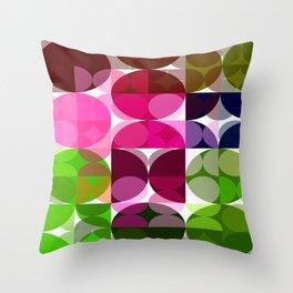 Rosas Moradas 1 Abstract Circles 3 Throw Pillow