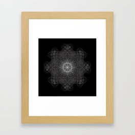 Cosmic Cymatics Mandala Framed Art Print