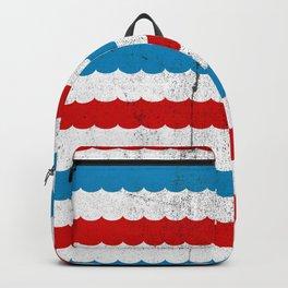 The Sailor - Vintage Nautical Striped Waves RWB Backpack
