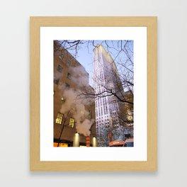 NYC - 30 Rockefeller Plaza Framed Art Print