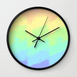 Geometric Pastel Rainbow Wall Clock