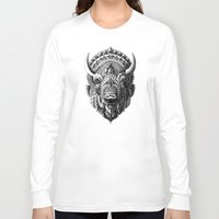 bioworkz Long Sleeve T-shirts featuring Bison by BIOWORKZ