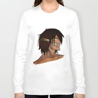 titan Long Sleeve T-shirts featuring Titan Form by JemyArt
